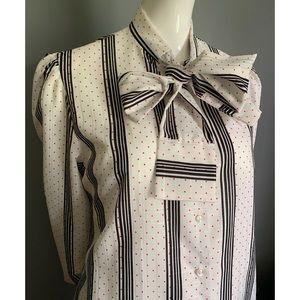 vintage Judy Bond : pussy bow blouse